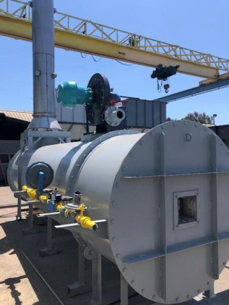 船 & Shore 3000 SCFM直烧热氧化剂(DFTO),主要用于沼气客户端